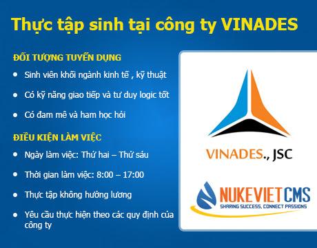 Chương trình thực tập sinh tại công ty VINADES