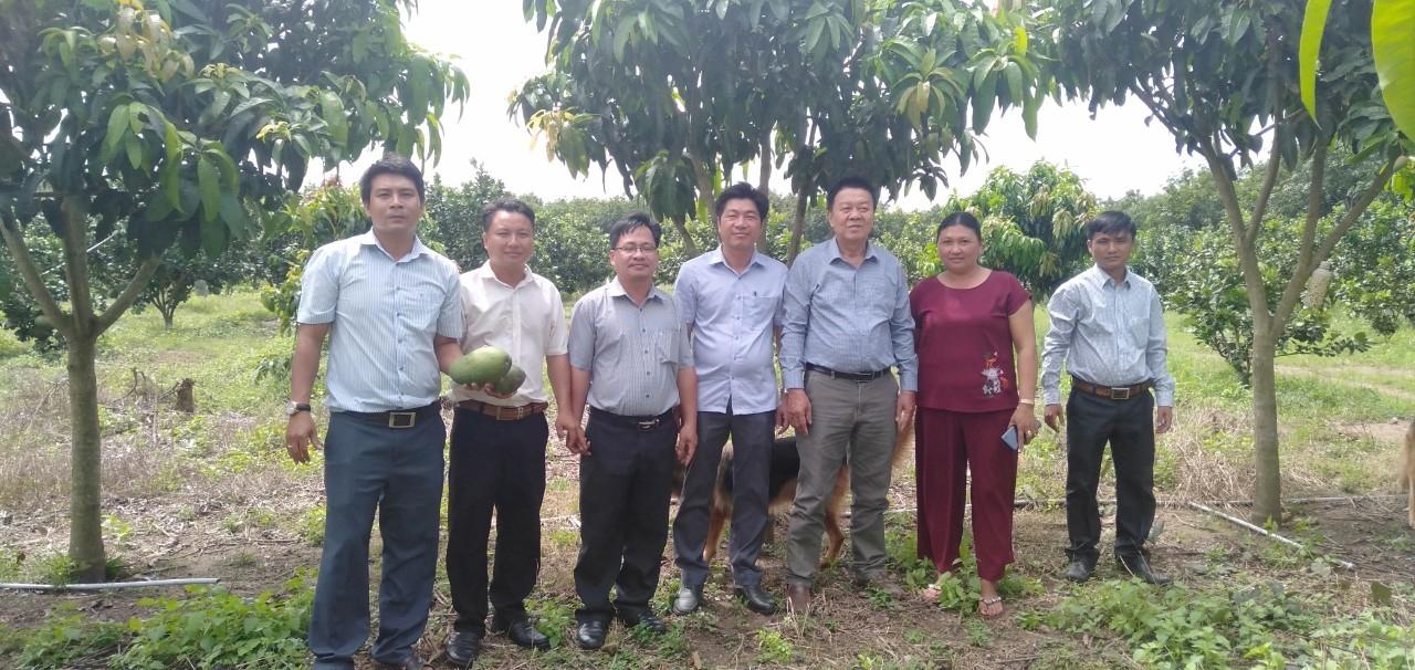 Đồng chí Lê Khắc Phú - Chủ tịch Hội Nông dân huyện trao vốn cho đại diện các hộ tham gia dự án
