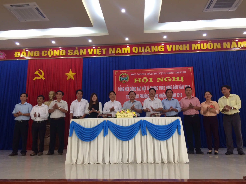 HND các xã, thị trấn ký kết giao ước thi đua năm 2019